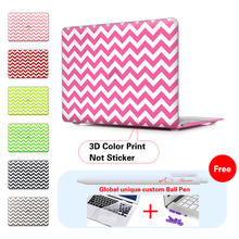 Fashion Geometric Wave Style Clear Print Cover Case For Apple MacBook Pro Retina 13 15 New Mac Air 11 12 13.3 inch Hard Shell