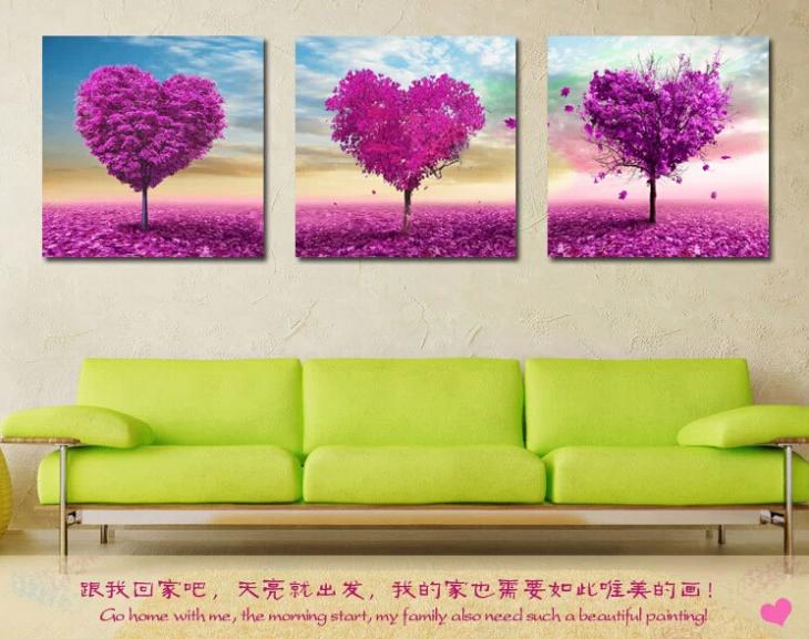 Heart-Shaped Tree Embroidery Pastoral Style Diamond Painting diy Diamond Painting Diamond Embroidery Painting(China (Mainland))