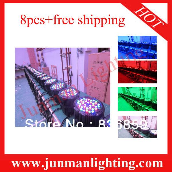 8pcs Free Shipping 54*3W RGBW Waterproof Led Par Light Led Par64 Light(China (Mainland))