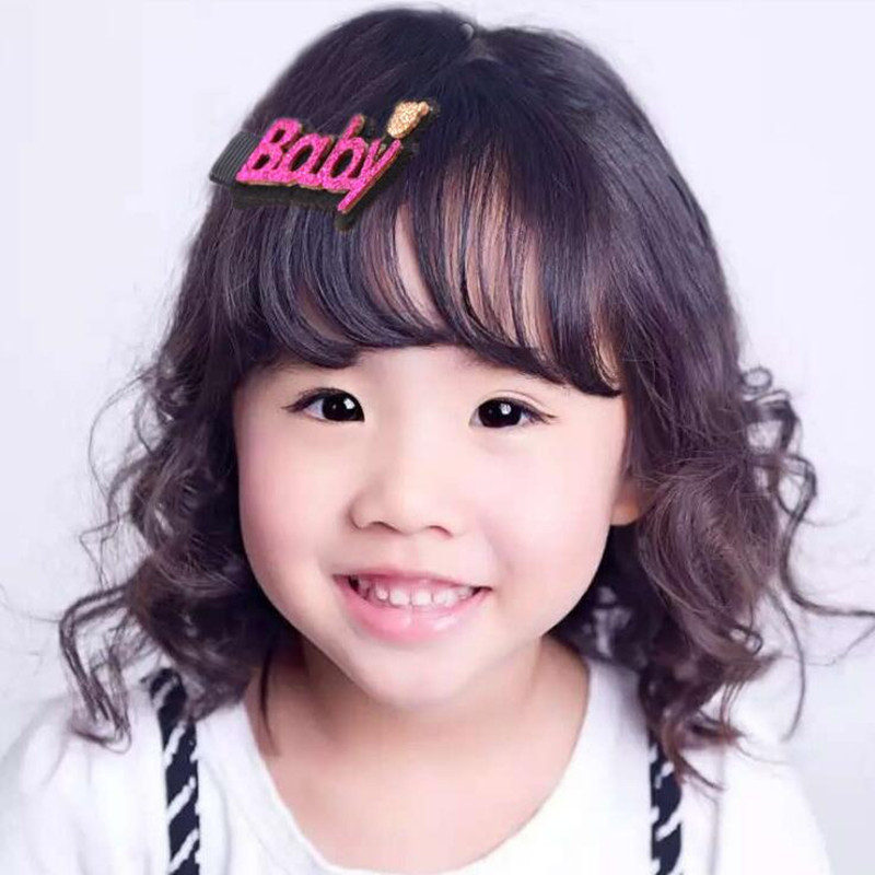 Free shipping 2016 New arrival South Korean magazine design sweet Hair accessories women girls sweet letters hairpin Wholesale(China (Mainland))