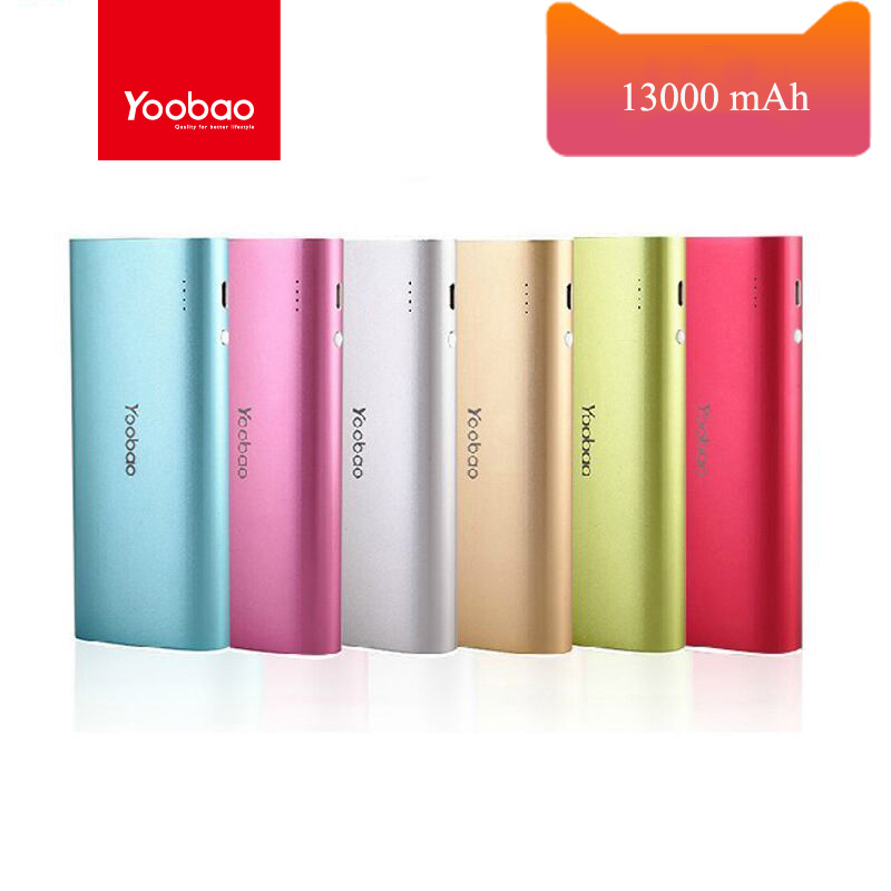 Yoobao YB-6016 13000mAh Portable Power Bank External Backup Battery Charger LED Light Power Bank for All Smartphone(China (Mainland))