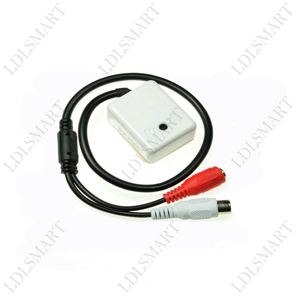 Mini MIC CCTV Microphone Audio Pickup Device for Camera Adapter High Sensitivity Good quality(China (Mainland))