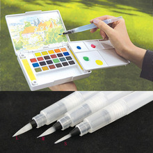 2015*Refillable 1pc Pilot Water Brush Ink Pen for Water Color Calligraphy Drawing Painting illustration Pen