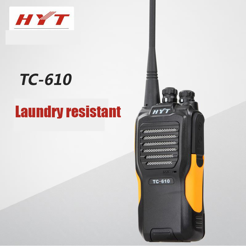 HYT Hytera Walkie Talkie TC-610 Professional 16 Channels 3-5KM UHF Dustproof Crashproof Family Radio Service Two Way Radio(China (Mainland))