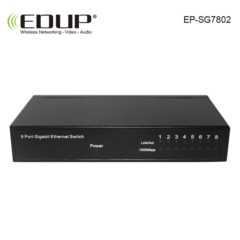 EDUP 8 port 10 / 100/1000M POE Switch network of compatible network cameras and wireless AP power IEEE 802.3af(China (Mainland))