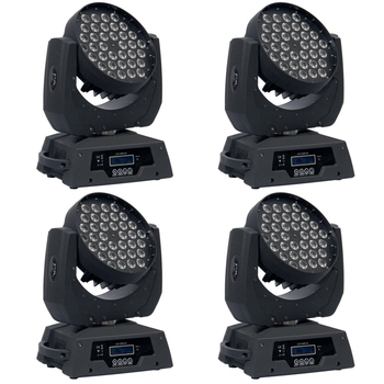 Free Shipping 4pcs/lot High Quality 36*10W RGBW 4IN1 Multi-Color LED Moving Head Wash