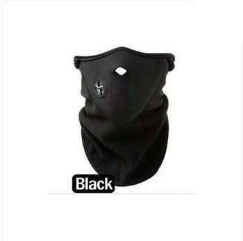 4pcs ride ski snowboarding motorcycle Windproof half mask long style black free ship