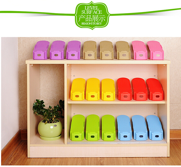 new fashion colorful Shoe cabinet shoes racks storage large capacity home furniture plastic 2 layers(China (Mainland))