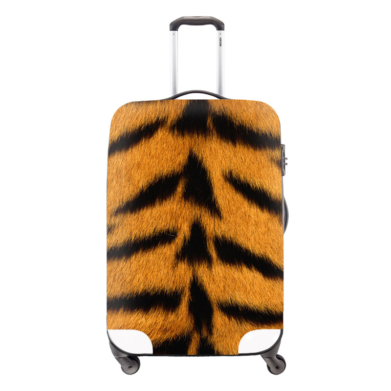 Variety animal fur print elastic luggage protective cover waterproof trolley suitcase cover for 18/20/22/24/26/28/30 inch Cases(China (Mainland))