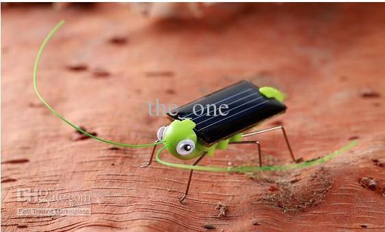 Solar grasshopper, Solar Cockroach,Green gift,Solar Powered Grasshopper Solar Toy 100pcs/lot
