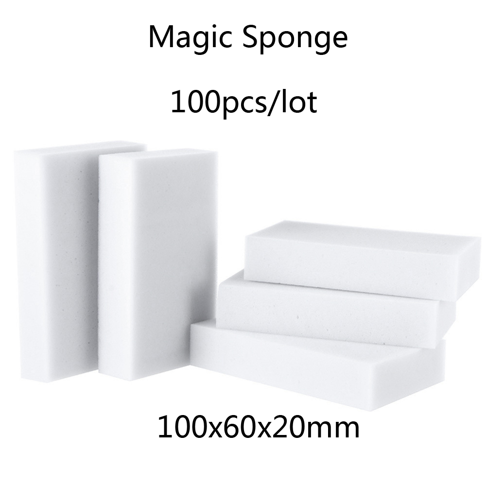 Гаджет  Melamine Sponge Magic Sponge Eraser Melamine Cleaner Eco-Friendly White Kitchen Magic Eraser 2015 New 100pcs/lot 100*60*20mm None Дом и Сад