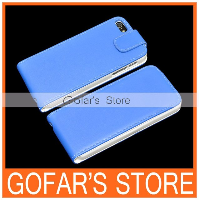 10 Colors PU Flip Leather Case for iPhone 5 5S 50pcs/Lot Top Quality