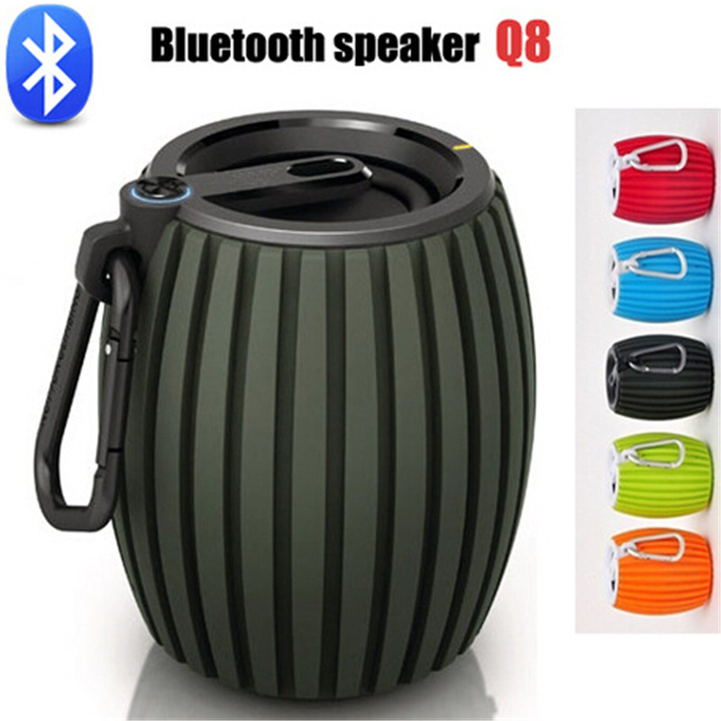 Q8 Mini Portable Wireless Bluetooth Speakers Audio Sound Subwoofer CellPhone Music Amplifier FM Radio MP3 Player Support TF Card(China (Mainland))