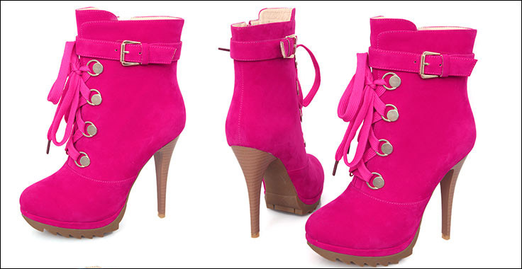 Hot Pink Ankle Boots Hot Pink Short Boots