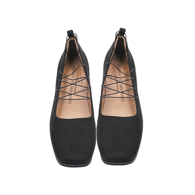 Fashion Designer Black Suede Pumps 2016 New Women Summer Sexy Lace Up Cross-tied Square Toe Square Heel Shoes Free Shipping(China (Mainland))