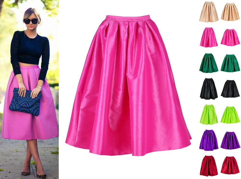 Pink satin maxi skirt – Modern skirts blog for you