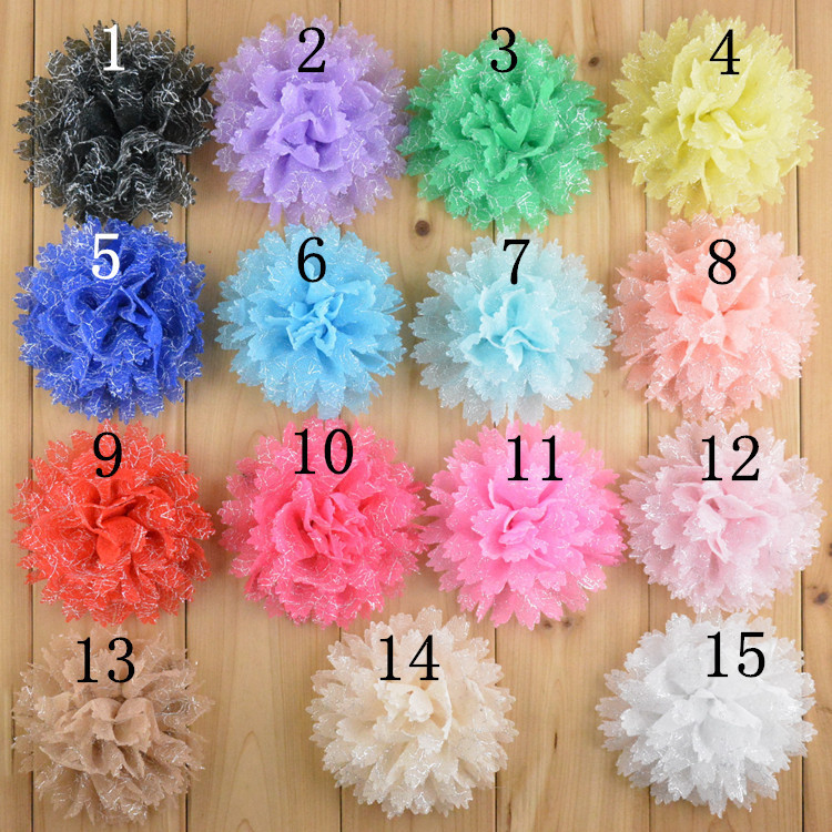 Wholesale 200pcs/lot Chiffon Lace Flower for baby hair bows headband hair acessories Free shipping WH52(China (Mainland))