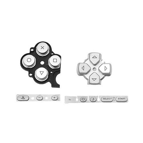 Silver Buttons Key PAD Set Repair Replacement for Sony PSP 3000 Slim Console(China (Mainland))