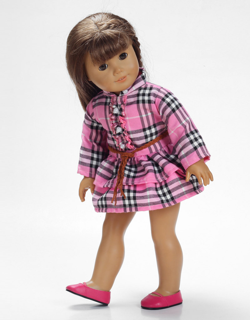 free shipping High quality american girl Doll clothing for 18 inch dolls accessories H8721