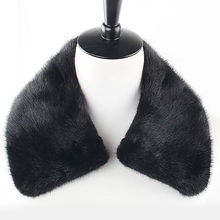 Fashion mink fur collar for men women black brown solid soft warm autumn winter male female scarf shawls(China (Mainland))
