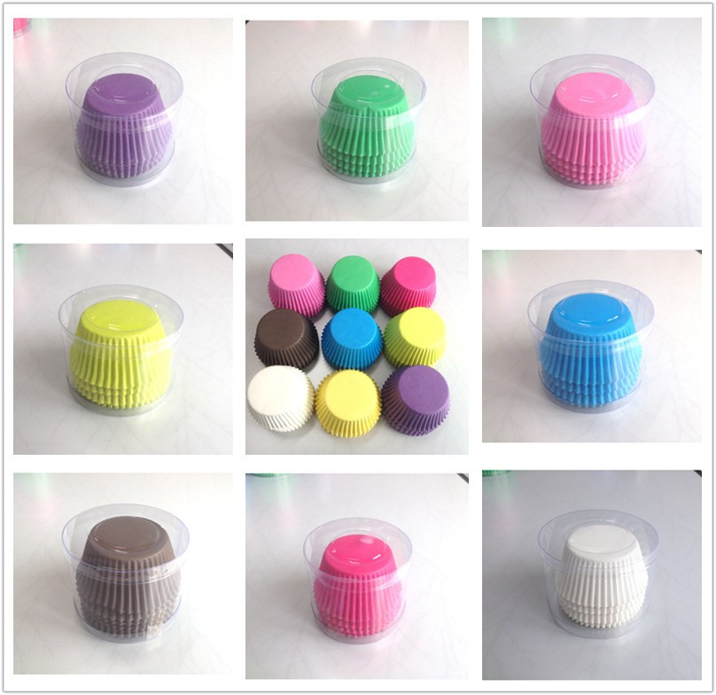 100pcs/lot Pink, Blue, Red, Yellow, Green, White, Purple Wedding Solid Color Paper Cup Cake Mold(China (Mainland))