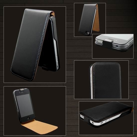 4 4S Genuine Flip Leather Case for iPhone 4 4S 4G Retro Mobile Phone Bag for Apple iPhone 4 4S iPhone4 Multi Colors Black Brown(China (Mainland))