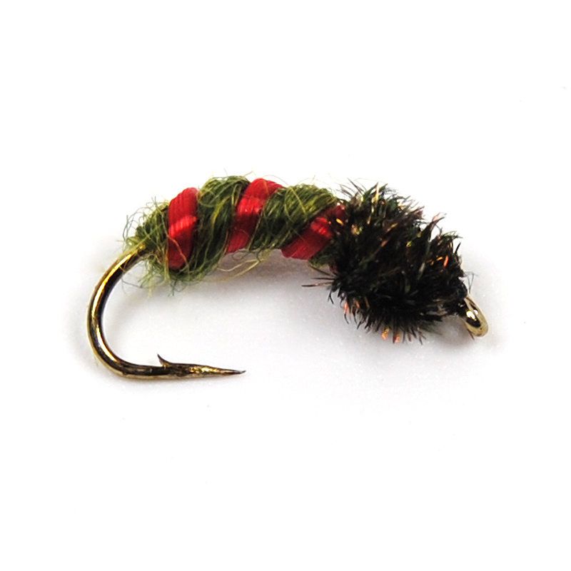 8PCS Peacock Herl Larvae Pupae Nymph Fly for Trout Fishing Size #12(China (Mainland))