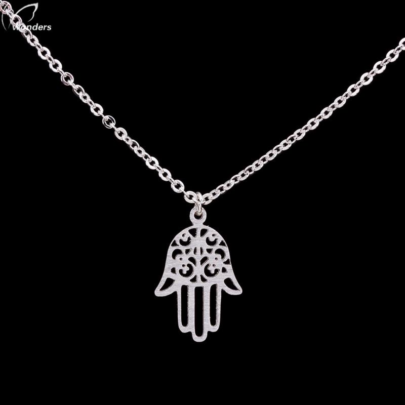 Здесь продается  2015  Fashion Jewelry Stainless Steel Hands-Shape Link Chain Gold/Silver Planted necklace New Style  Ювелирные изделия и часы