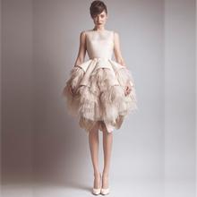 Custom Made Feathers Unique A Line Wedding Dresses 2015 Boat Neck Open Back Plus Size Fashion Bride Gowns vestido de noiva(China (Mainland))