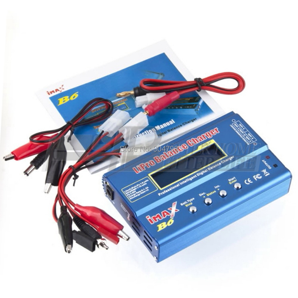 1Set New iMAX B6 Lipo NiMh Li-ion Ni-Cd RC Battery Balance Digital Charger Discharger Free Shipping(China (Mainland))