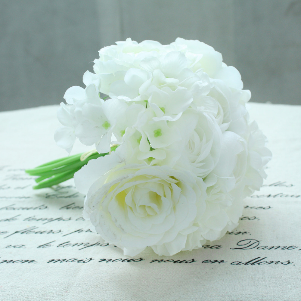 Compare prices on silk flower peonys online shoppingbuy low 11pcs peony rose silk artificial flower bridal bridesmaid hydrangeas bouquet latex real touch flowers floral wedding dhlflorist Gallery