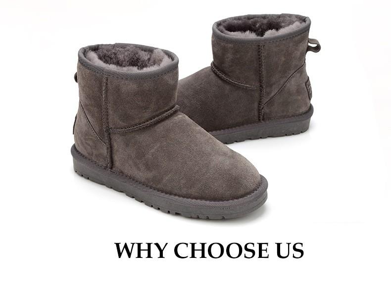 ซื้อ 100%ขนธรรมชาติหนังแกะผู้หญิงรองเท้าหิมะฤดูหนาวที่อบอุ่นให้TPRพื้นรองเท้ารองเท้าหิมะฤดูหนาวGN08