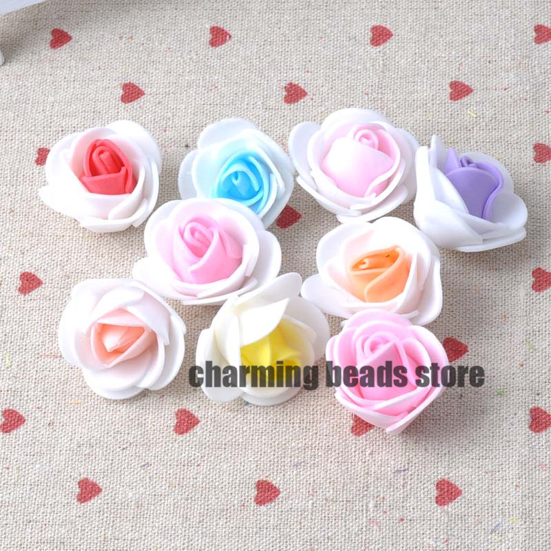 11 color PE Foam Artificial Rose Flowers Head for Wedding Decoration DIY 100pcs 30mm CP0284(China (Mainland))