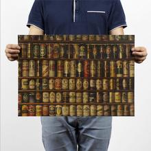 [H304] beer Daquan Figure / B models / bar // restaurant / Nostalgia kraft paper poster 51x35.5cm(China (Mainland))
