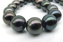 huij 002838  stunning12mm natural tahitian round black pearl necklace 18inch(China (Mainland))