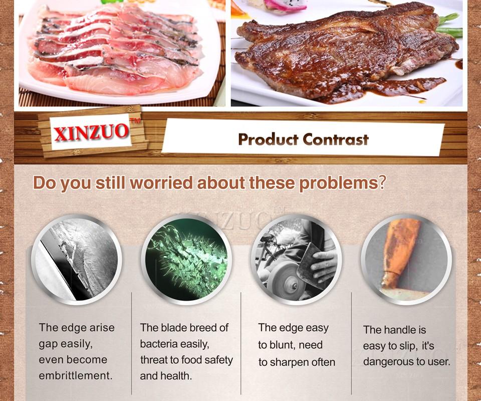 "Buy XINZUO 8 "" cleaver knife 73 layers Japanese Damascus kitchen knife kithcen too senior Sashimi knife wood handle free shipping cheap"