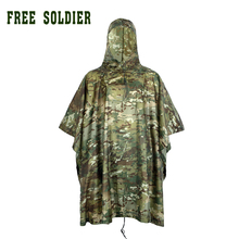 outdoor 100% waterproof riding hiking camping raincoat environmental mat men's women's raincoat raincover  FREE SOLDIER(China (Mainland))