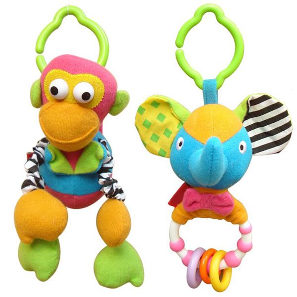 Toys For Boys 12 Months : Pcs lot animal fun plush baby rattles toys months