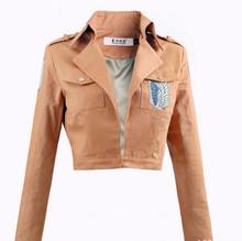 Нападение на титан куртка Shingeki нет Kyojin куртка эрен леви весна куртка женщин косплей костюм легион косплей костюм F0065
