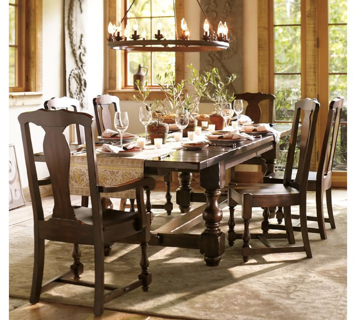 EXTENDING TABLE CHAIR 7 PIECE DINING SET In Antique Furniture Sets