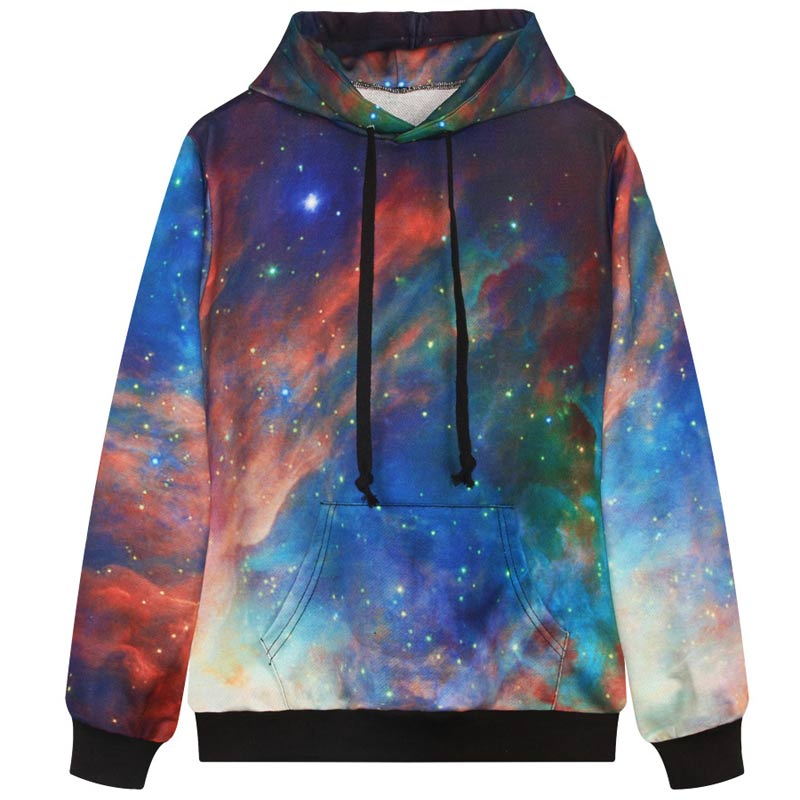 Gradient color space/galaxy sweatshirts men 3d hoodies sports hooded hoody casual sweatshirts long sleev autumn tracksuitsОдежда и ак�е��уары<br><br><br>Aliexpress