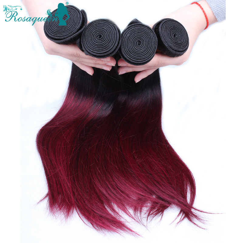 Ombre Malaysian burgundy hair rosa hair products 3bundles human hair ombre hair extensions 1b/99j malaysian virgin hair straight