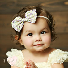 Buy Newborn Baby Girl Headband Floral Print Dot Stripe Bowknot Hair Band Children Hair Accessories Elastic Headbands bandeau fille for $1.97 in AliExpress store