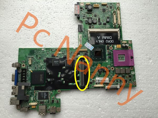 100% Original HX766 CN-0HX766 laptop motherboard for Dell Inspiron 1720 1700 PM965 DDR2 Non-Integrated Free shipping(China (Mainland))
