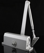 Max. 80KG Heavy Door Closer - Silver, Aluminum Finish 2-Section Speed Adjustable(China (Mainland))