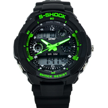 Dual display watches male outside sport hiking waterproof electronic watch male multifunctional submersible inveted Wristwatches