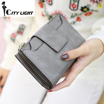 Новое поступление мода женщин бумажник дамы молния hasp нубука высокой емкости студенты бумажник портмоне freeshiping