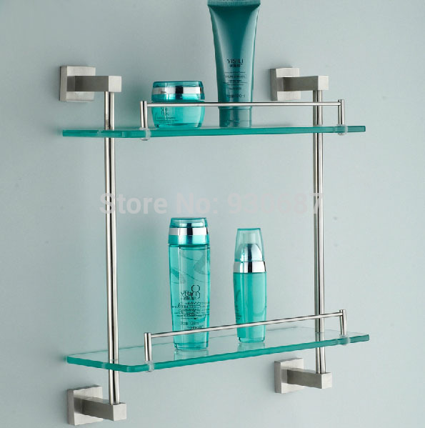 modern brushed nickel bath wall mount dual tiers stainless. Black Bedroom Furniture Sets. Home Design Ideas