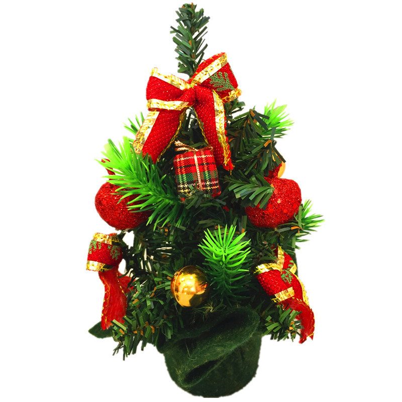 20cm height artificial mini christmas tree festival party for Small christmas decorations
