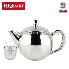 Export  price factory direct sale 0.5L hot sale stainless steel teapot , tea set ,tea kettle with strainer